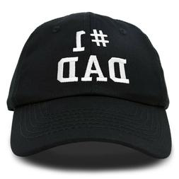 DALIX #1 Dad Hat Number One Fathers Day Gift Embroidered Bas