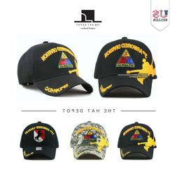 The Hat Depot 1100 Official Licensed Armored Division 3D Bas
