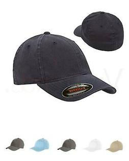 FLEXFIT Garment Washed Twill FITTED CAP Sport Hat Baseball S