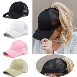 2018 Ponytail Baseball Cap Women Messy Bun Baseball Hat Snap