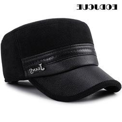 2019 Wholesale Winter Cap Men Pu Leather <font><b>Baseball</