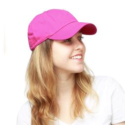 The Hat Depot 300N Washed Cotton Low Profile Baseball Cap Fu