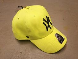 47 Brand New York Yankees Clean Up Snapback Cap Hat Yellow O