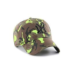 '47 Brand Headwear New York Yankees Neon Camo Clean up Slouc