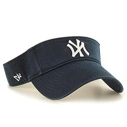 new concept 2d8eb 27400  47 MLB New York Yankees Clean Up Adjustable Visor, Navy, On