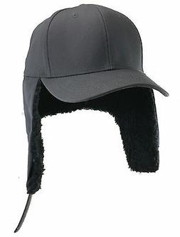 4XL Gray Ear Flap Baseball Cap  BIGHEADCAPS