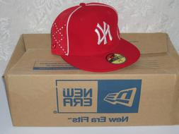 New Era 5950 NY NEW YORK YANKEES Red & White Cap MLB Basebal