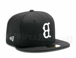New Era 59FIFTY BOSTON RED SOX Black & White MLB Baseball Ca