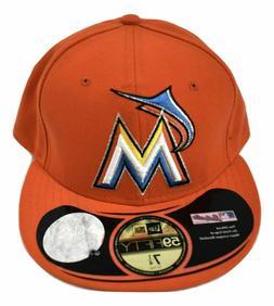 New Era 59Fifty Mens MLB Miami Marlins Baseball Hat Cap New
