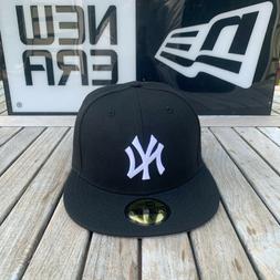 New Era 59fifty New York Yankees Baseball Fitted Hat All Bla