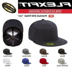6210/T NEW Flexfit Premium Flatbill Fitted Baseball Cap 210