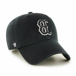 Boston Red Sox 47 Brand BLACK Clean Up Low Profile Adjustabl