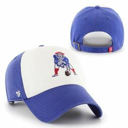Patriots 47 Brand Throwback Clean Up White Front Strapback A