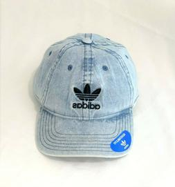 adidas Men's Originals Relaxed Strapback Cap, Washed Blue De
