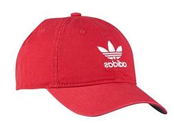 adidas Men's Originals Relaxed Strapback Cap, Scarlet Red/Wh