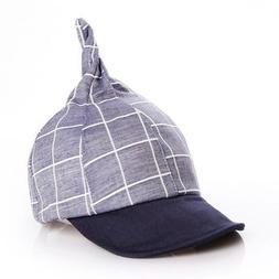 Plaid Baby Baseball Caps Adjustable Soft Boys Girls Children