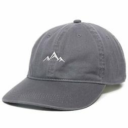 Outdoor Cap -Adult Mountain Dad Hat-Unstructured Soft Cotton