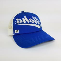 Billabong Aloha Trucker Hat Blue Snapback Baseball Cap White