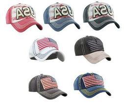 Kbethos America USA Flag Vintage Distressed Hat Baseball Cap