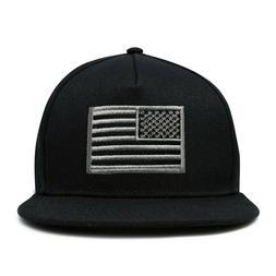DALIX American Flag Hat Flat Bill Snapback USA Baseball Cap