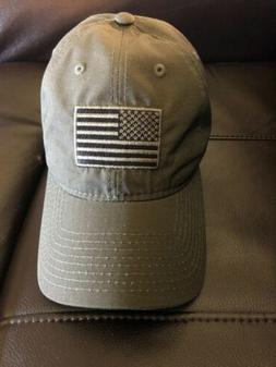 Army Green US American Flag Baseball Hat Cap Rapid Dominance