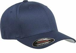 Flexfit Men's Athletic Baseball Fitted Cap, Navy, Small/Medi