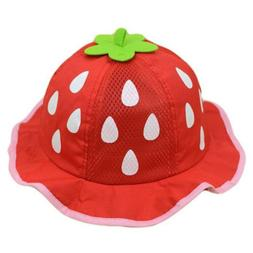 Baby Baseball Hat Mesh Sunhat Caps Cap Raindrop Shaped Straw