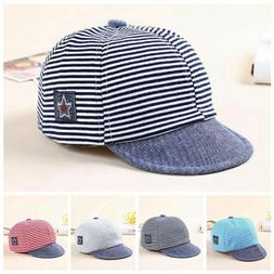 Baby Boy Autumn Hats Striped Soft Cotton Eaves Baseball Cap