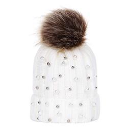 Byyong Baby Boys Girls Winter beads Knit Hat Beanie Hairball