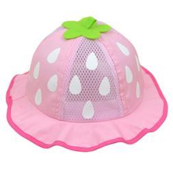 Baby Mesh Sunhat Kids Baseball Hat Strawberry Raindrop Shape