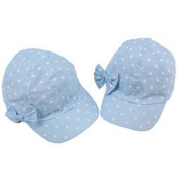 Baby Summer Sun Hat Girls Hat Cap Anti-UV Dot&Bowknot Beach