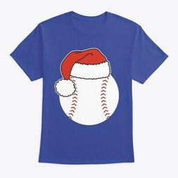 Baseball Ball In Santa Hat Hanes Tagless Tee T-Shirt