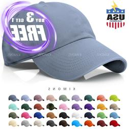 Baseball Cap Cotton Solid Plain men women Ball Hat Dad Hat P