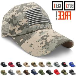 Baseball Cap for Men Tactical Army Cotton Dad Hat USA Americ