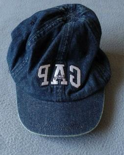 Baby Gap Baseball Cap Hat Youth Age 3-4 Size 3XL-4XL Denim N
