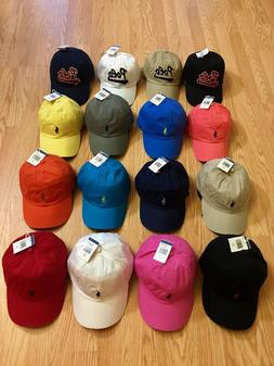 POLO RALPH LAUREN BASEBALL CAP HATS  PONY LOGO ONE SIZE ADJU