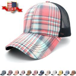 Baseball Cap Mens Trucker Hat Mesh Cotton Sun Visor Polo Sty