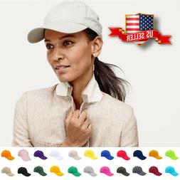 Baseball Cap Plain Blank Cotton Adjustable Solid Women Hat P