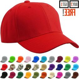 Plain Baseball Cap Strapback Adjustable Solid Blank Hat Polo