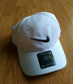 NIKE Baseball Cap Size Toddler 2-4T 2T 3 3T 4 Hat Swoosh Whi