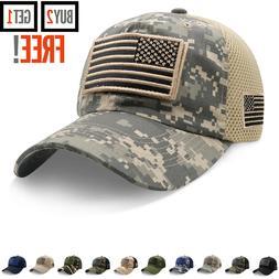 Baseball Cap USA Flag American Mens Hat Detachable Patch Mes
