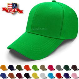 Baseball Caps Plain Loop Adjustable Solid Color Hat Polo Sty