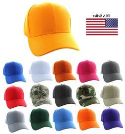Baseball Hat  - Solid Color - Strapback