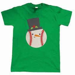 Baseball Snowball Hat, Mens T-Shirt - Christmas Gift Him Dad
