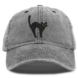 DALIX Black Cat Hat Womens Halloween Baseball Cap Washed