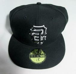 NEW ERA Black San Francisco SF Giants 59Fifty Fitted Hat 7½