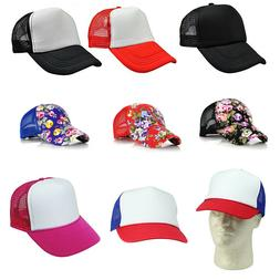 Blank Baseball Cap Men Hat Women Plain Adjustable Mesh Truck