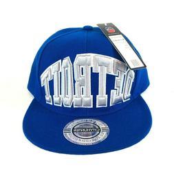 City Hunter USA Blue Detroit Adjustable Back Hat Baseball Ca
