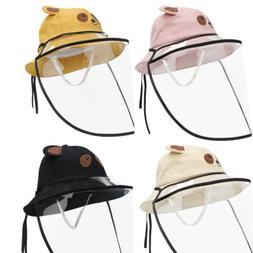 Boy Girls Anti-Saliva Baseball Cap Protective Hat Fisherman