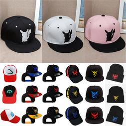 Boys Girls Pokemon Go Baseball Hat Unisex Hip-Hop Anime Cap